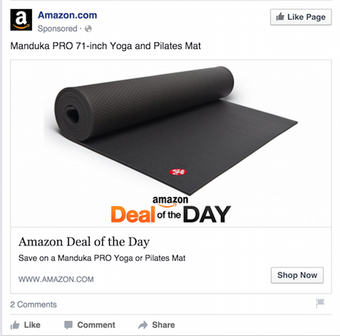 amazon facebook ad