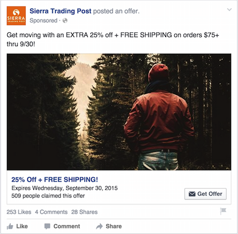 sierra trading post facebook ad