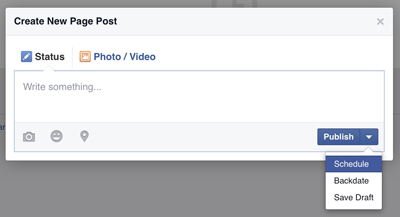 facebook post schedule dialog box
