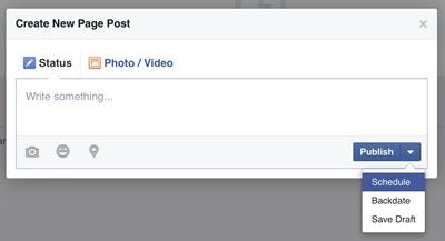 facebook post schedule dialog box