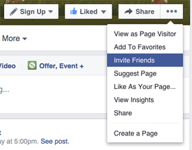 How to recommend a page on facebook