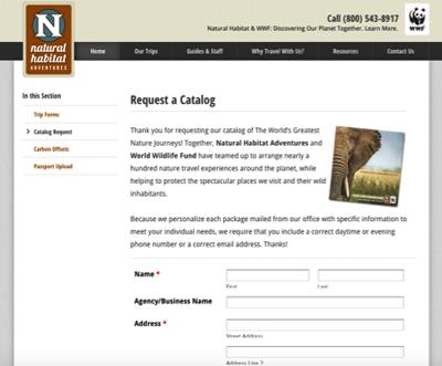 natural habitat lead generator