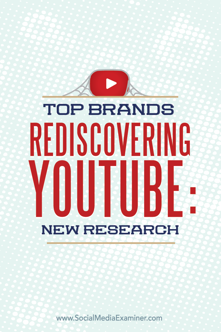research shows top brands are rediscovering youtube