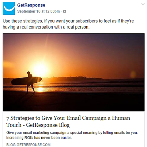getresponse facebook ad