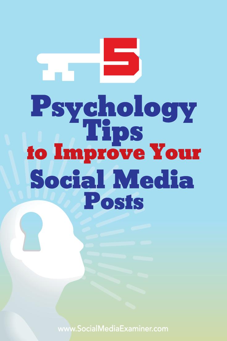 psychology tips to improve social media posts