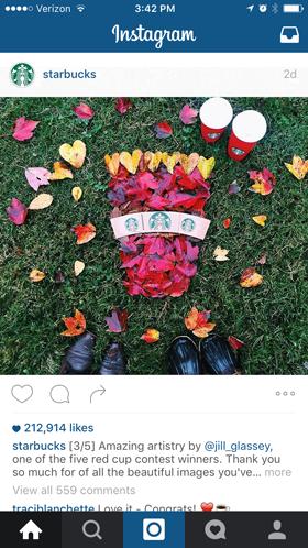 starbucks fan instagram