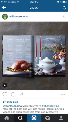 williamssonoma instagram ad