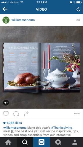williamssonoma instagram ad