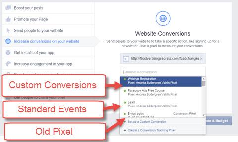 facebook conversion method