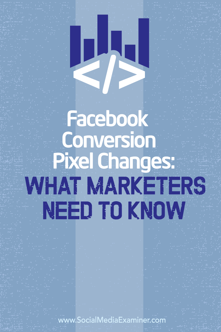 changes to facebook conversion pixel