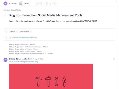 content management in asana