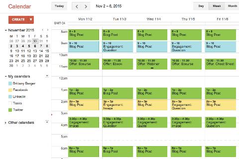 4 tools to build a social media content calendar social for Social media posting calendar template
