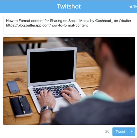 twitshot tweet box