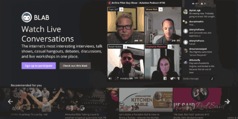 blab homepage personalization