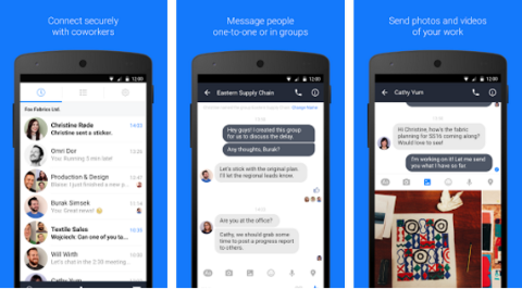 facebook at work messenging app