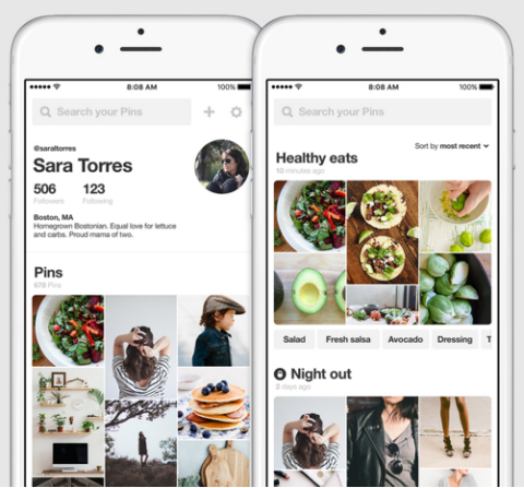 pinterest makes it easy to find and sort pins