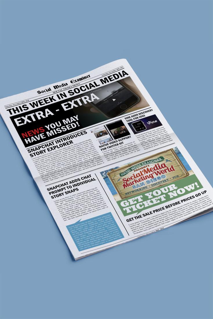 social media examiner weekly news november 28 2015