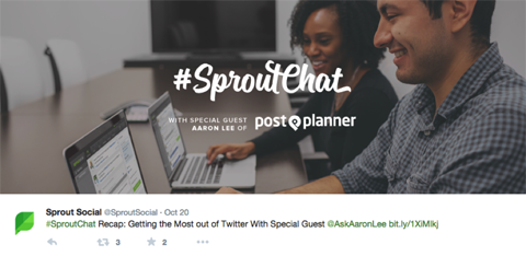 sproutchat tweet
