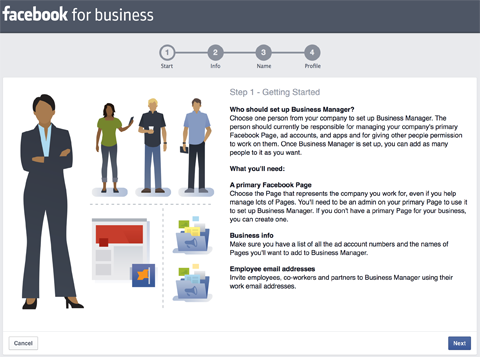 setting up business manager