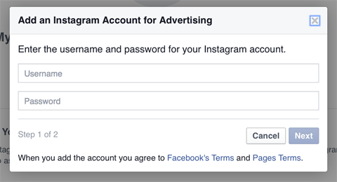 adding an instagram account to business manager