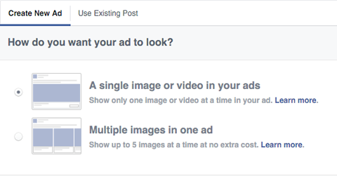 choosing what type of ad to run