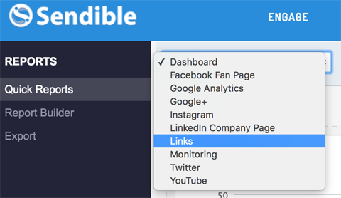 report views in sendible analytics