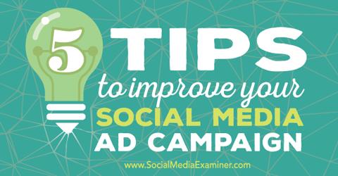 improve social media ad campaign