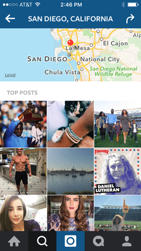 geolocation results on instagram