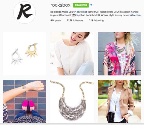 rocksbox instagram profile