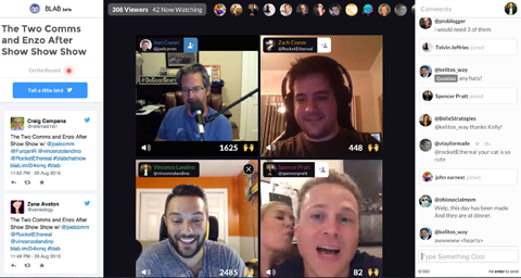 blab broadcast screenshot