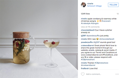 crate and barrel ugc on instagram
