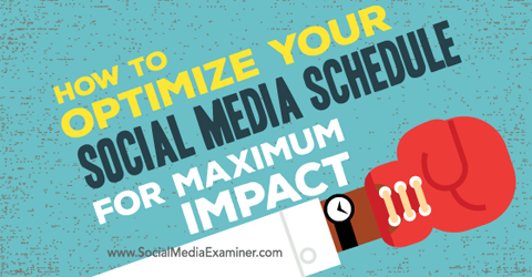 optimize your social media schedule