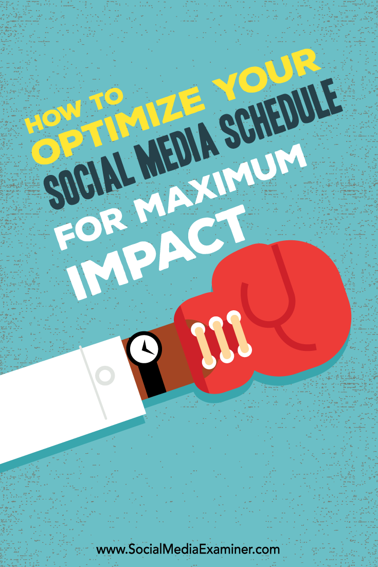 how to optimize your social media schedule