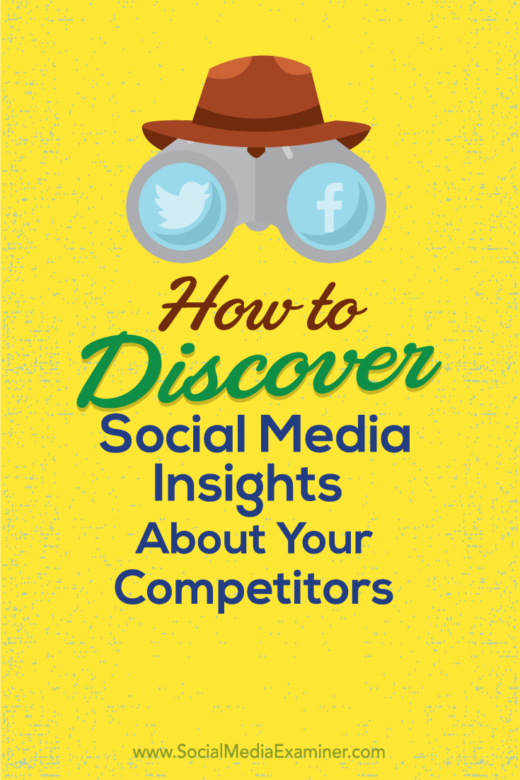 how to discover social media insights about your competitors