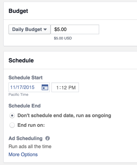 budgeting for a retargeting campaign