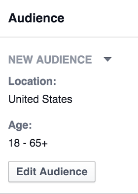 edit the audience for a retargeting campaign