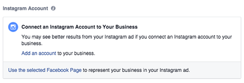 connect your instagram account for a retargeting campaign