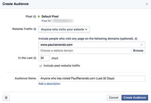 facebook custom audience details