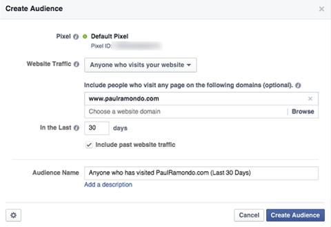 facebook custom audience details