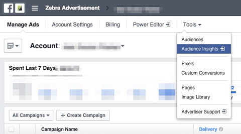 how to delete facebook ad account from drop down menu