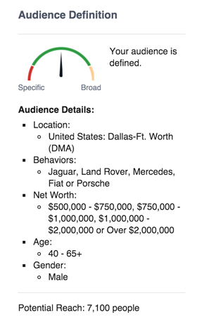 auto audience stats