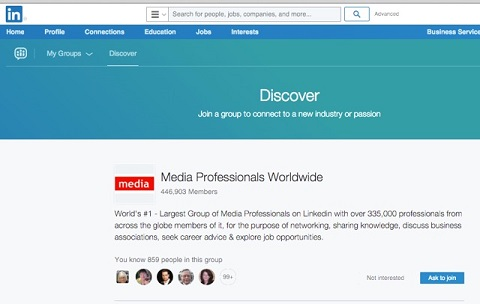 linkedin group discover