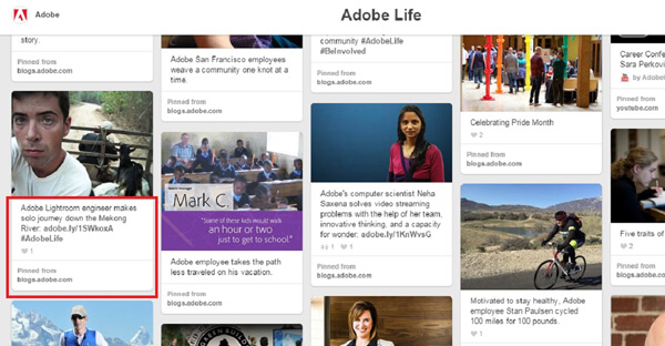 adobe employee story on pinterest