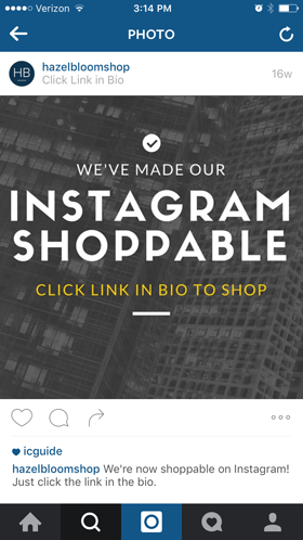 shoppable alert on instagram