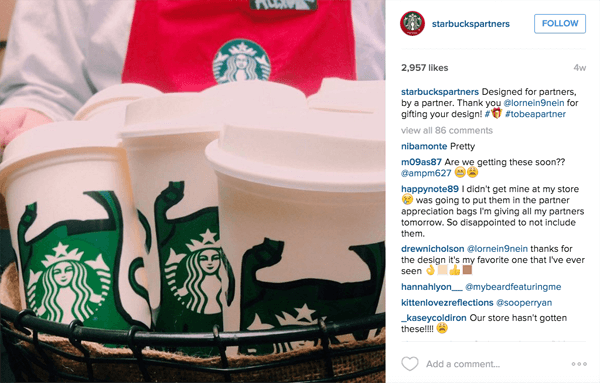 starbucks partner instagram
