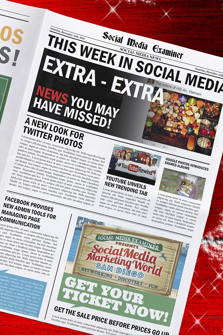 social media examiner weekly news december 12 2015