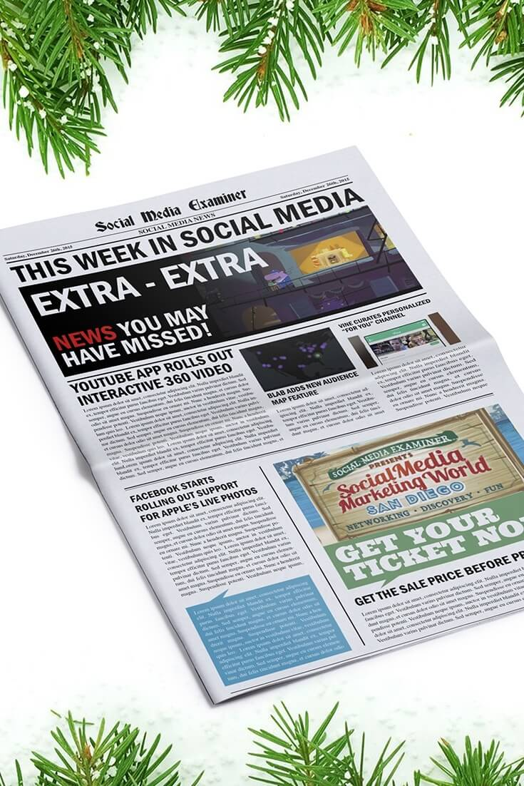social media examiner weekly news december 26 2015