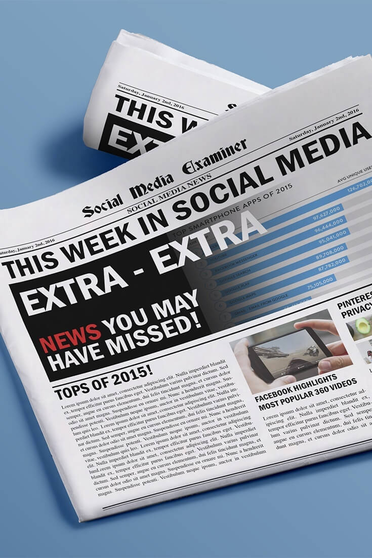 social media examiner weekly news january 2 2016