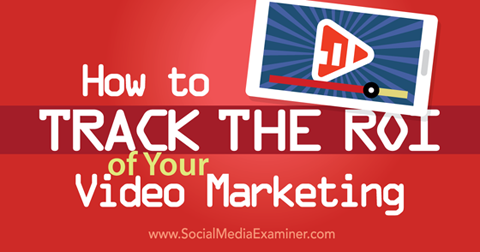 track video marketing roi