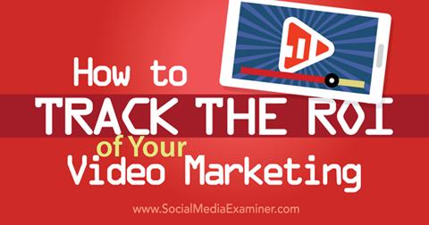 track video marketing roi